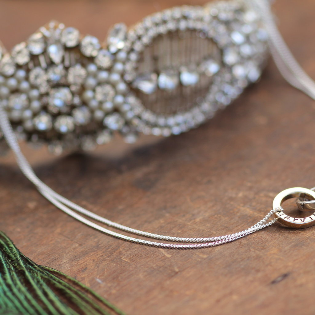 Personalised Silver and Gold Infinity Necklace