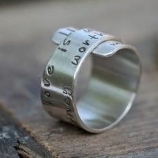 Personalised Secret Scroll Ring