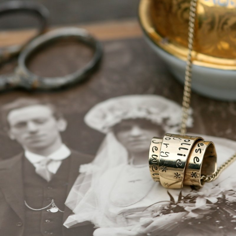 PERSONALISED Gold Secret Scroll Necklace