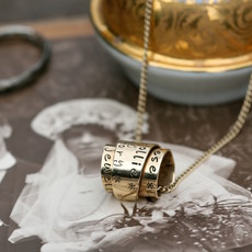 Joulberry Personalised Gold Secret Scroll Necklace