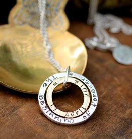 Joulberry Personalised Silver and Gold In2you Necklace