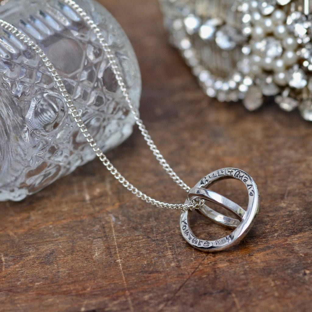 Joulberry Personalised Silver Sphere Necklace