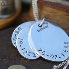 Joulberry Fingerprint Oval Trio Necklace