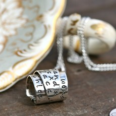 Joulberry Personalised Silver Secret Scroll Necklace