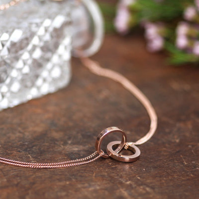 Personalised Rose Gold Infinity Necklace