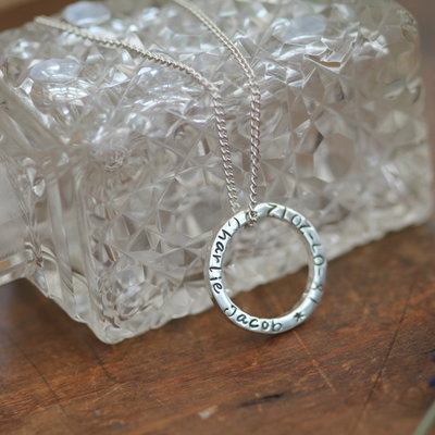 Joulberry Personalised Silver Ring of Love Necklace