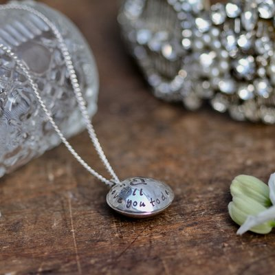 Personalised Silver Love Locket