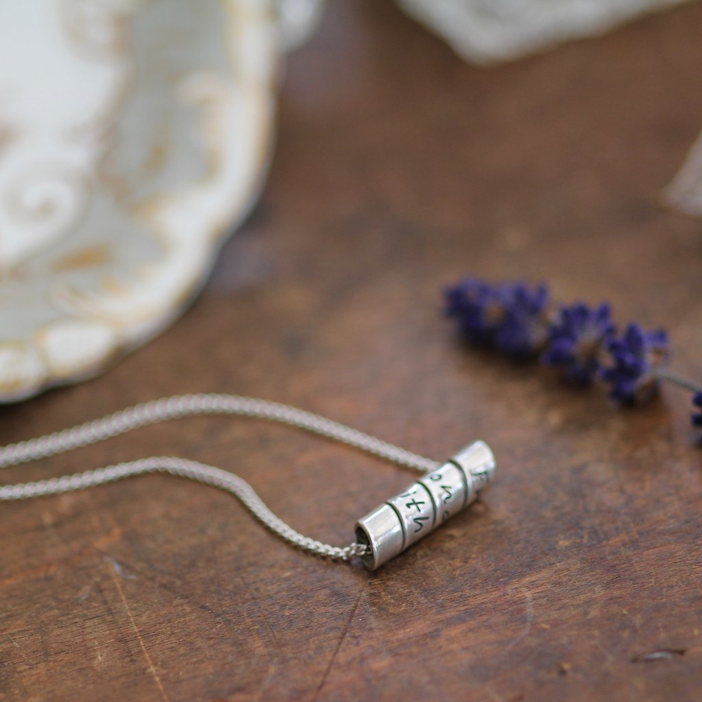 PERSONALISED Open Scroll Necklace