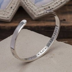 Joulberry Personalised Silver Ladies Cuff