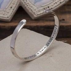 Personalised Silver Ladies Cuff