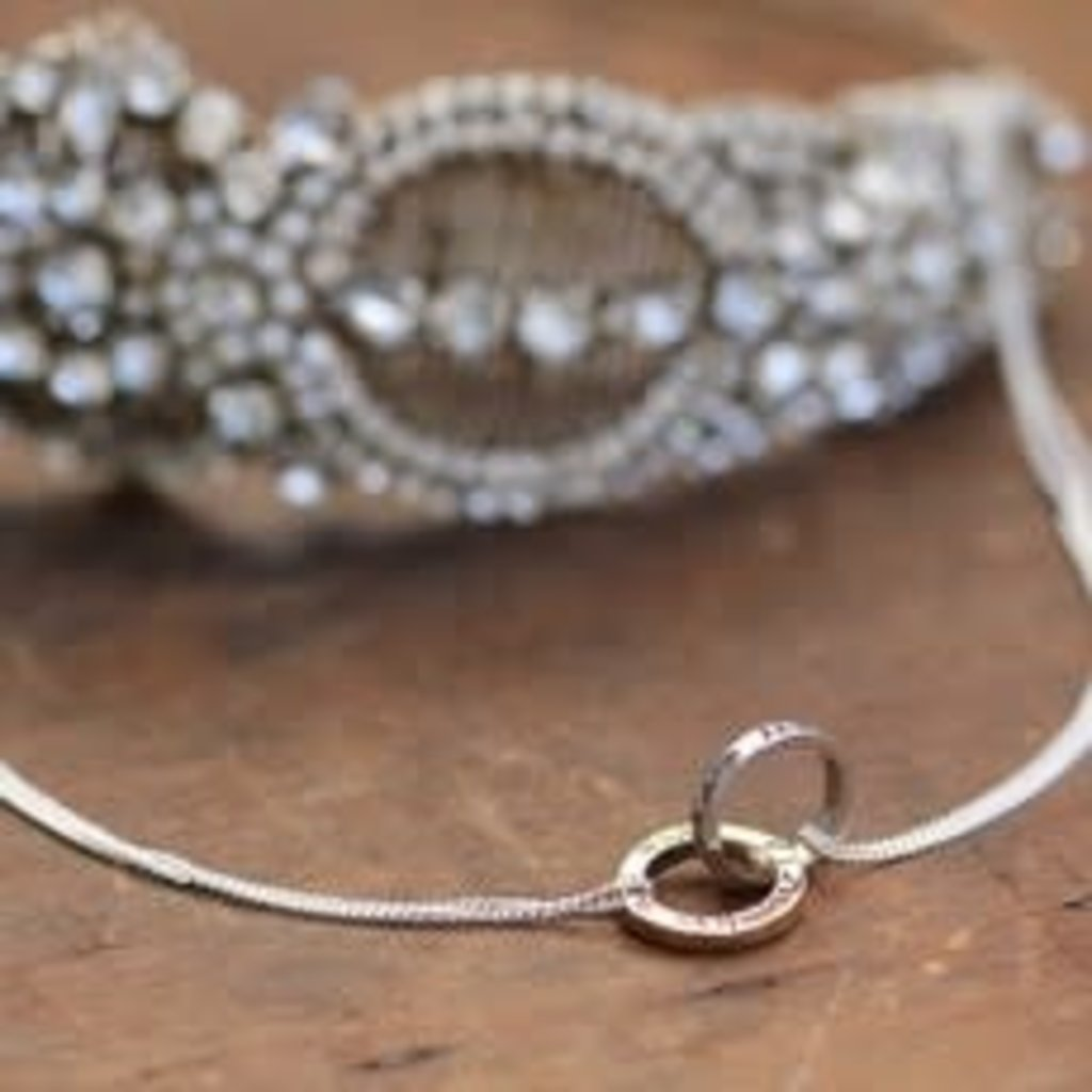Joulberry Silver and Gold Infinity Necklace