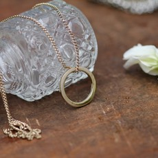 Gold Ring of Love Necklace
