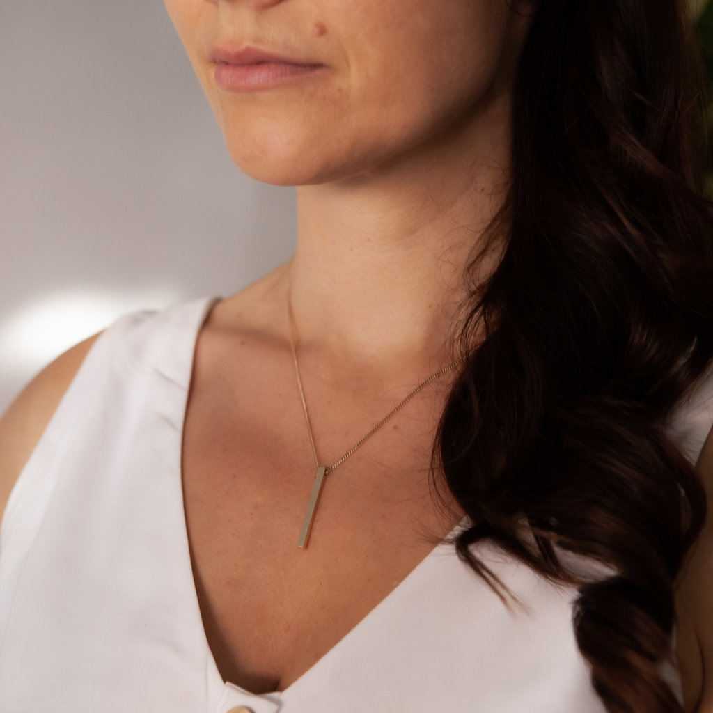Joulberry Gold Bolt Necklace