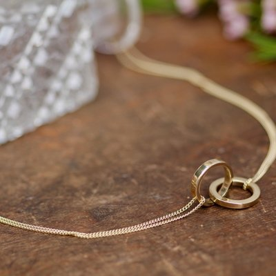 Joulberry Gold Infinity Necklace