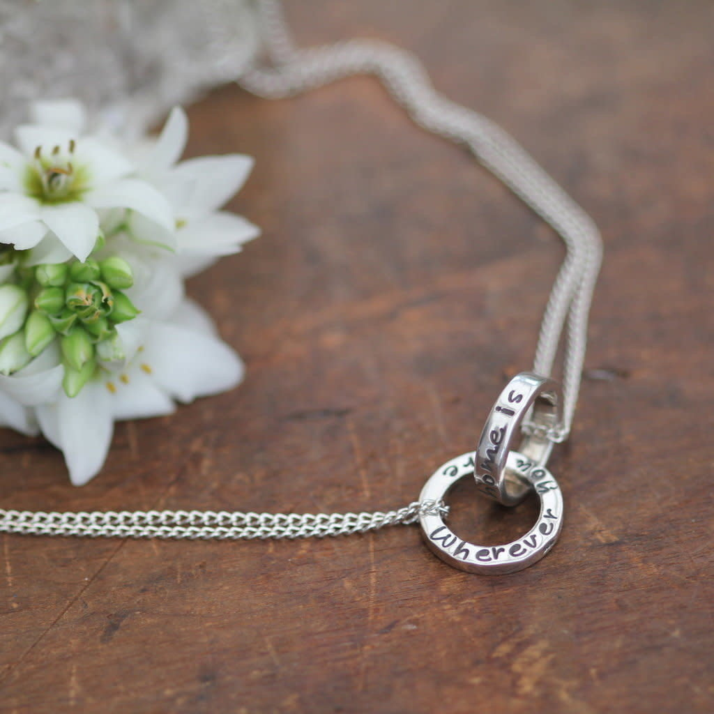 Joulberry Silver Infinity Necklace