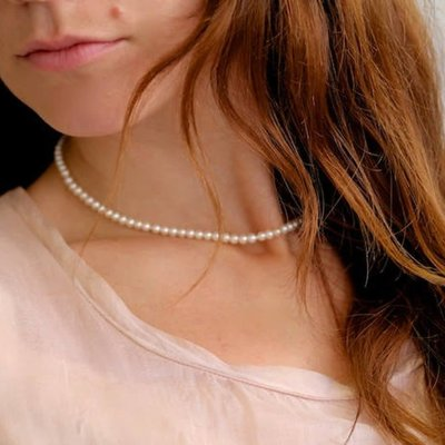 Joulberry Silver White Freshwater Pearl Strand