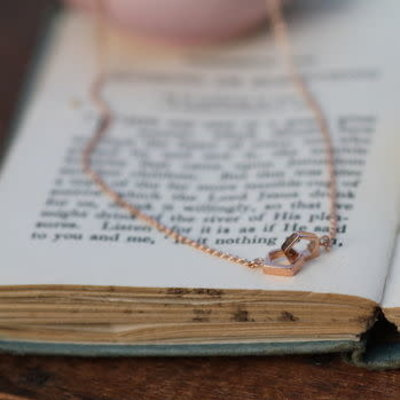Rose Gold Geo Infinity Necklace