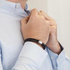 PERSONALISED Black Soho Scroll Bracelet