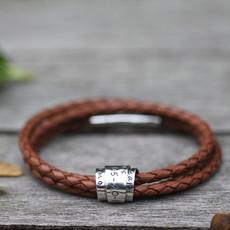 Joulberry Personalised Tan Soho Scroll Bracelet