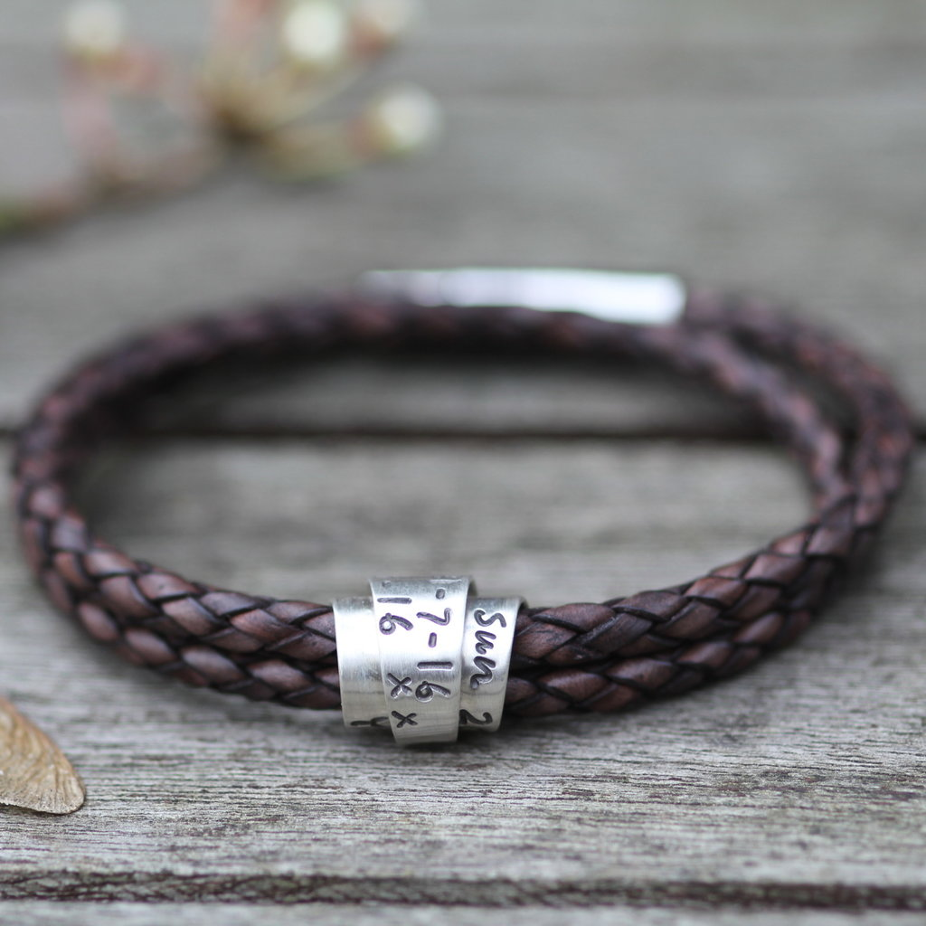 PERSONALISED Brown Islington Scroll Bracelet