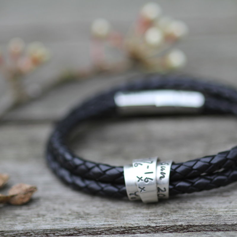 PERSONALISED Black Islington Scroll Bracelet