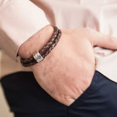 PERSONALISED Brown Islington Ring Bracelet