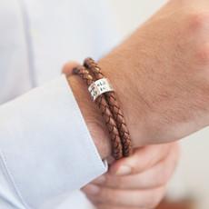 Joulberry Personalised Tan Islington Ring Bracelet