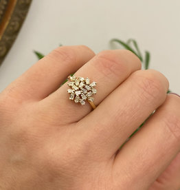 Joulberry Gold Moon Cluster Diamond Ring