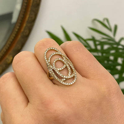 Gold Eliza Diamond Ring