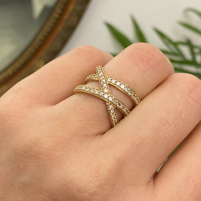 Gold Cristabelle Diamond Ring