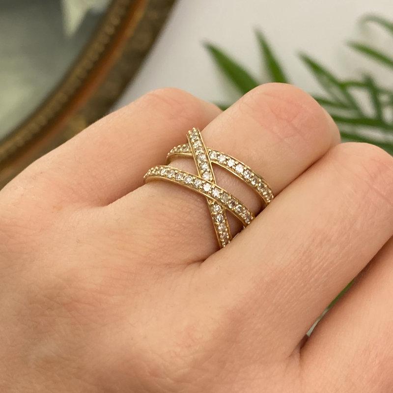 BARDOT Gold Cristabelle Diamond Ring