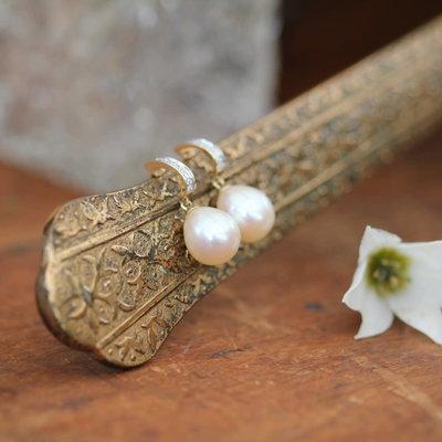 White Gold Diamond Duchess Earrings