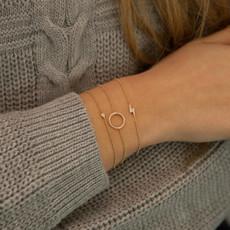 Gold Diamond New Moon Bracelet