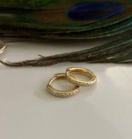 Joulberry Gold Round Diamond Hoop Earrings
