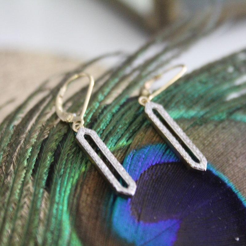 TATE Gold Diamond Eleanor Earrings