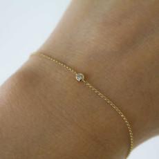 DAISY Rose Gold North Star Diamond Bracelet 0.04ct