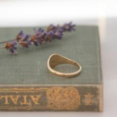 MADISON Gold Petite Signet Ring