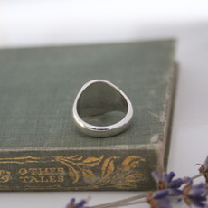 Silver Crest Signet Ring