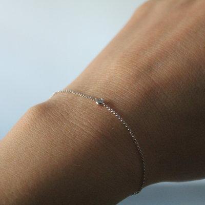 LUNAR White Gold North Star Diamond Bracelet