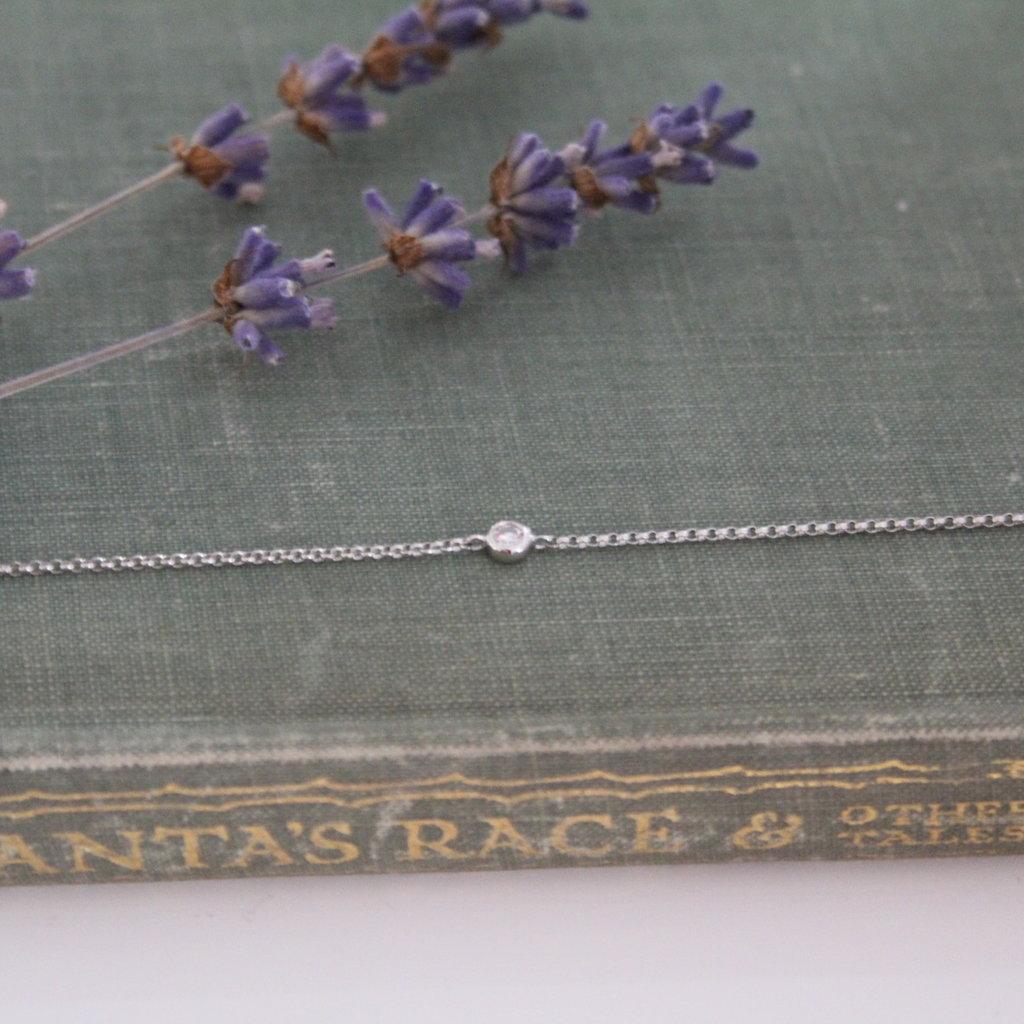 Daisy White Gold North Star Diamond Bracelet 0.05ct