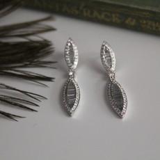 White Diamond Megan Earrings