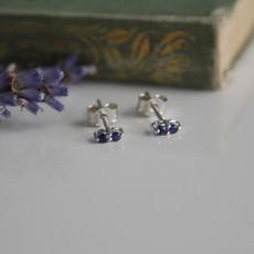 DAISY White Gold Sapphire Duo Earrings