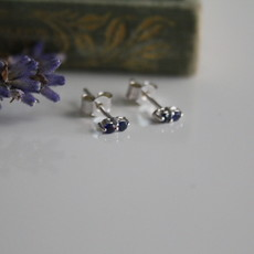 Joulberry White Gold Sapphire Duo Earrings