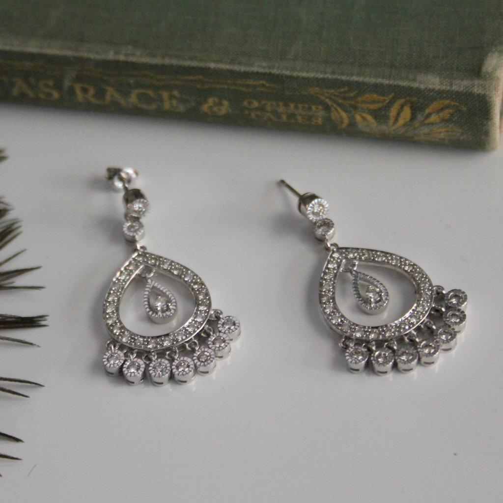 Joulberry White Gold Diamond Catriona Earrings