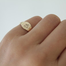 Joulberry Gold Petite Signet Ring