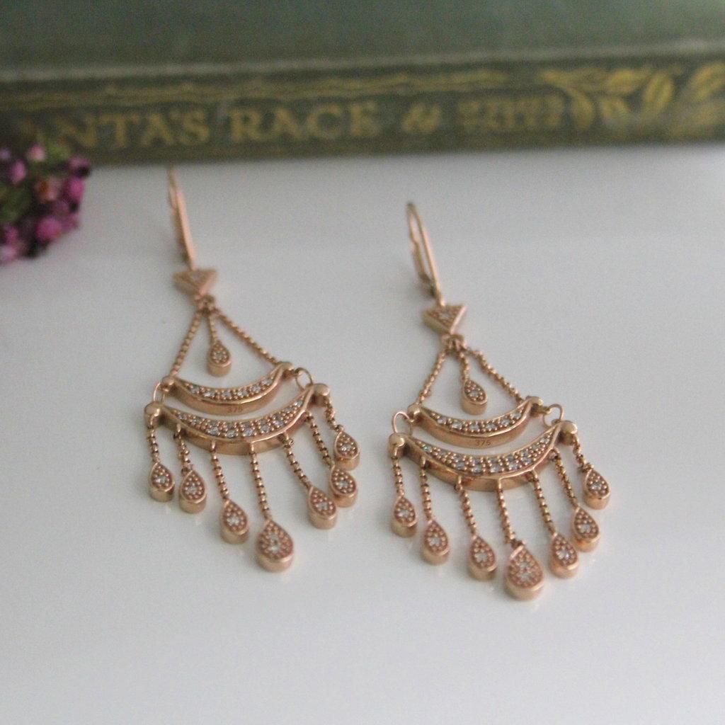 Rose Gold Madeleine Earrings