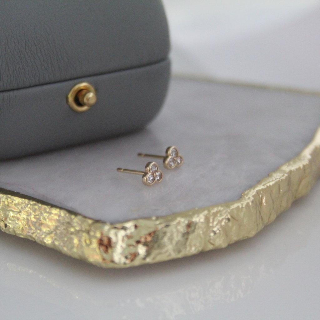 Gold Ivy Diamond Earrings