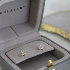 Joulberry Gold Ivy Diamond Earrings