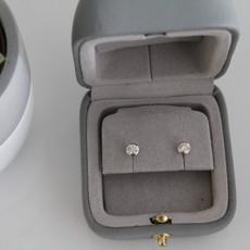 BARDOT 18 Carat White Gold Bezel Diamond Studs