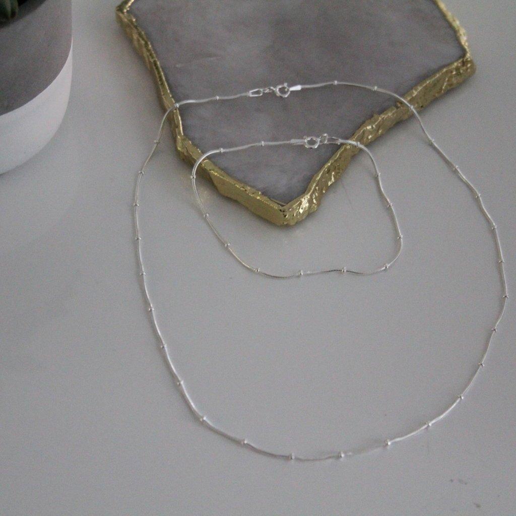 Joulberry Silver Jasmine Snake Necklace